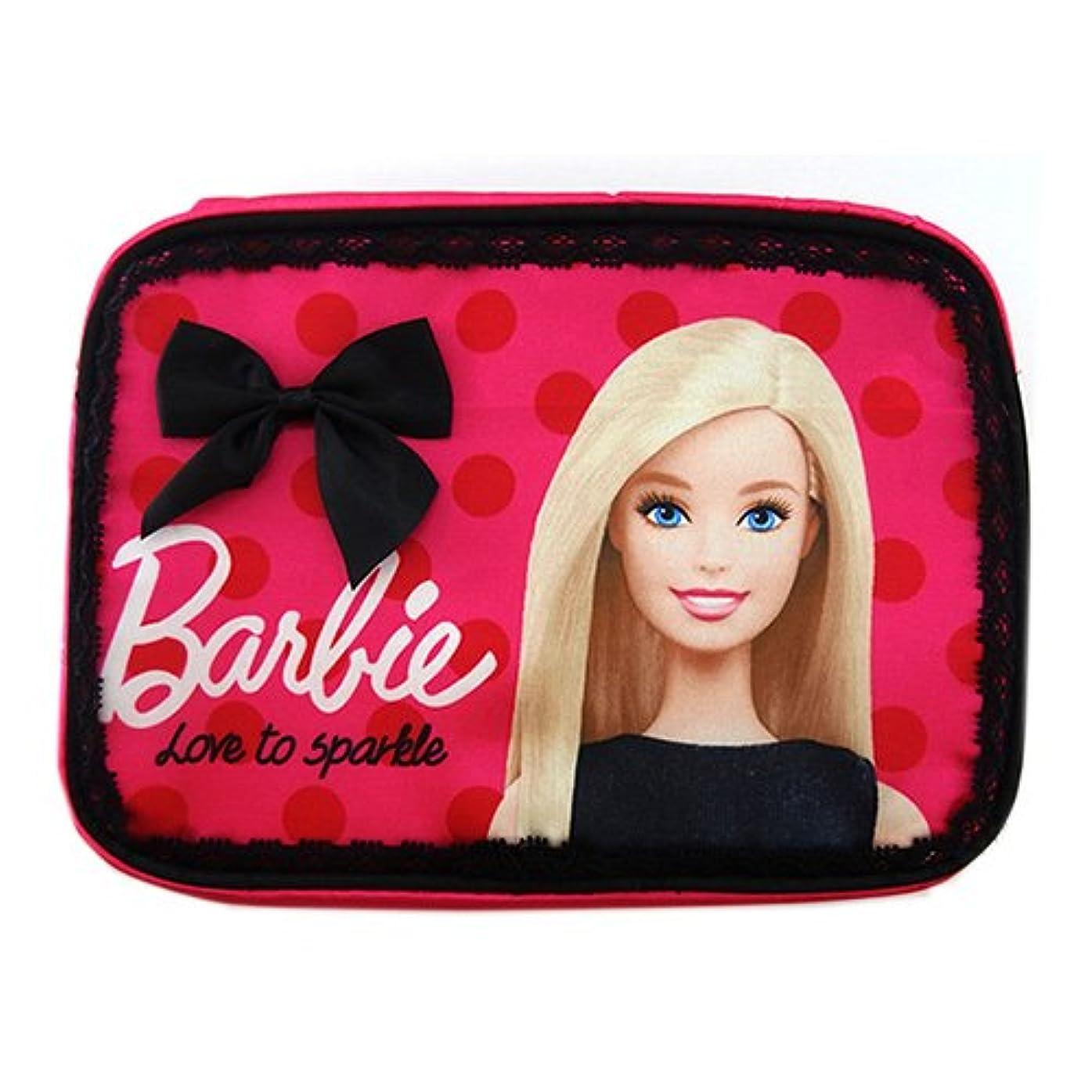 気難しい神話雑草バービー Barbie コスメポーチ フューシャピンク 11662【Barbie ポーチ メイクポーチ ケース 袋 ピンク フラットポーチ】