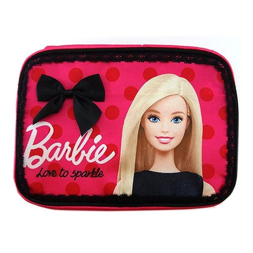メガロポリス地殻規定バービー Barbie コスメポーチ フューシャピンク 11662【Barbie ポーチ メイクポーチ ケース 袋 ピンク フラットポーチ】