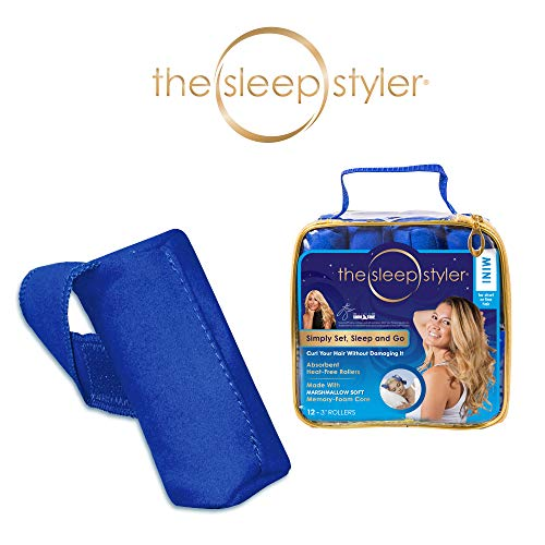 """Allstar Innovations The Sleep Styler, The heat-free Nighttime Hair Curlers for Short or Long Fine Hair, Mini (3"""" Rollers), 12 Count, As Seen on Shark Tank"""