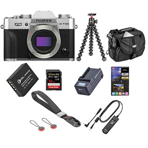 Fujifilm X-T30 Mirrorless Digital Camera Body Silver - Bundle