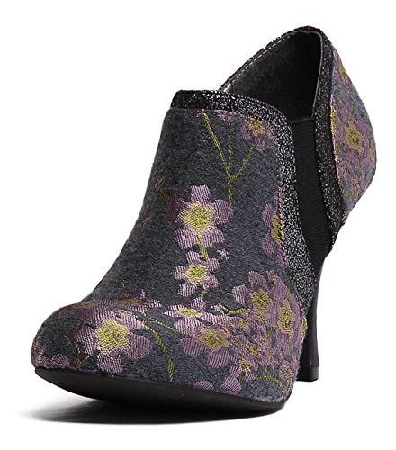 Ruby Shoo Juno Womens Velvet Grey High Heel (3-4.5') (UK 8, Grey)