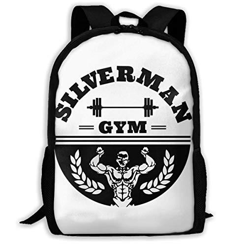 XCNGG Silverman Gym Premium Schultasche Teenager Casual Sports Rucksack Männer Frauen Student Reisen Wandern Laptop Rucksack