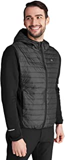 Calvin Klein Mens Wrangell Hooded Hybrid Insulated Stretch Light Jacket