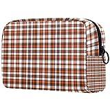 Bolsa de maquillaje británica para cosméticos, bolsa de almacenamiento de viaje, bolsa de aseo portátil, monedero con cremallera negra para mujeres y niñas