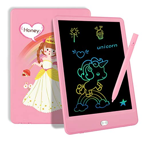 TEKFUN Toddler Toys Age 2-4 Girls Gifts for 3 4 5 6 7 Year Old, LCD Writing Tablet Drawing Board 8.5' Colorful Drawing Pad for Kids Doodle Board, Educational School Birthday Toys for 3-8 Little Girls