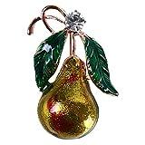 Broche con forma de pepino LLZIYAN con diseño de hojas de calabaza y pera para la ropa, insignia de decoración para las mujeres, Aleación de cinc, Pera calabaza, As described