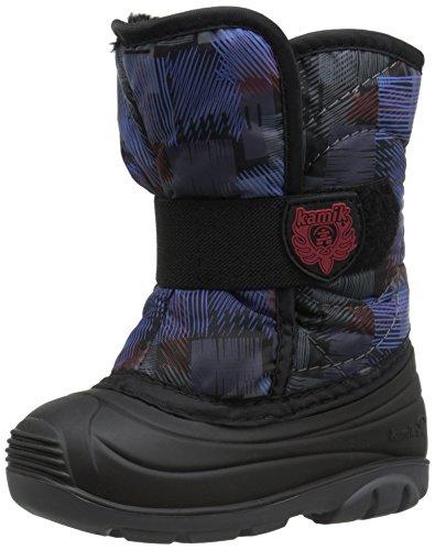 Kamik Snowbug4 Snow Boot (Toddler), Black/Blue, 9 M US Toddler