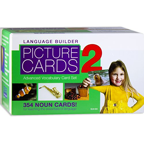 Stages Learning Language Builder Picture Nouns Set 2 for Autism, Aba and Preschool Educational Vocabulary Flash Cards