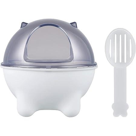 POPETPOP ハムスタートイレ ハムスター浴室 ハムスターバスルーム 小型 ペットバスルーム 砂浴び 砂遊び 小動物 かわいい 厚手 スコップ付き ホワイト