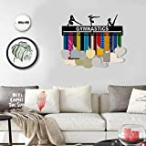 weemoment Sport Medal Hanger Display Holder - Medal Awards Display Rack-Gymnastics- Black-Best Gifts Medal Display Honors Holder 40.614.30.2cm Well-Matched