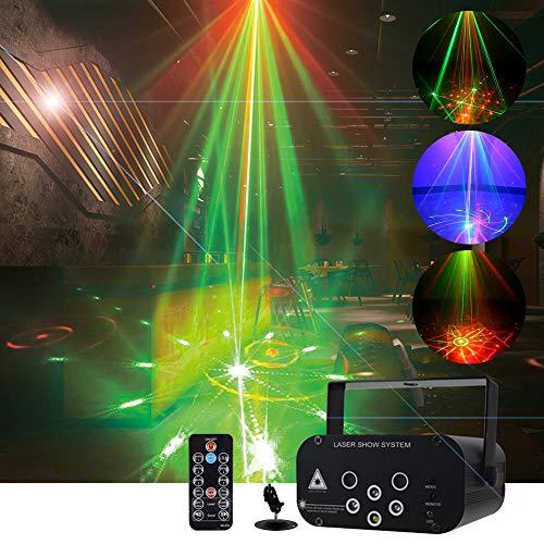 ZH-VBC Stroboskop Disco Licht, 6 Loch 64 Pattern Licht Disco Lichteffekte Stroboskop, Sound Aktiviert Dj Licht mit Fernbedienung, Strobe Sterne Led Licht Lichter for Bars Ktv Stage