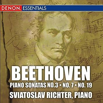 Beethoven: Piano Sonatas No. 3, No. 7, & No. 19