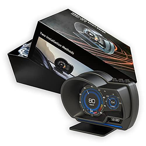 最先端 HUD メーター OBD2+GPSモード スピードメーター ヘッドアップディスプレイ HUD 追加メーター AP-6 日本語説明書付き
