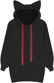 ZOMUSAR Womens Cat Ear Design Hoodie Sweatshirt Hooded Long Sleeve Pullover Tops Blouse