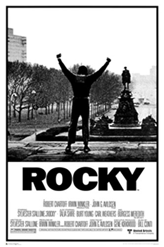 Rocky Arms Up Movie Score Classic Boxing Sports Drama Film Poster Print 24 by 36