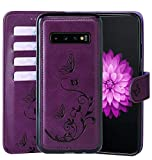 WaterFox Samsung Galaxy S10 + Plus Case, Wallet Leather Case with...