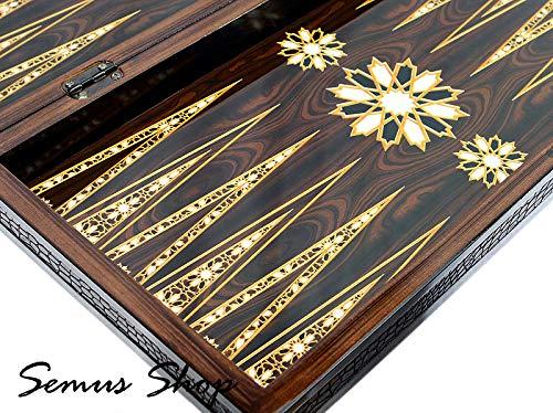 Semus Orient Backgammon Tavla XXL Gesellschaftspiele Familienspiel 50 x 50 cm.