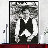 ysldtty Pintura De La Lona Leonardo Dicaprio Movie Star Actor Arte Seda Poster Wall Home Decor NF1040H Sin Marco 40cmx60cm