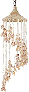 SandT Collection Chula Shells Windchime with Hat 6x24 Seashell Chimes - White