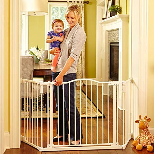 North States 72' Wide Deluxe Décor Baby Gate: Provides safety in extra-wide spaces...