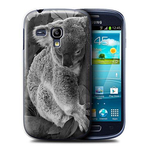Hülle Für Samsung Galaxy S3 Mini Zoo-Tiere Koala Design Transparent Ultra Dünn Klar Hart Schutz Handyhülle Case
