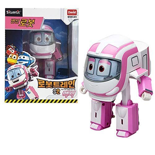 Robot Trains Season 2 Korean Animation Transforming Robot Character Maxie 4' Action Figure Toy, Ages 3 and up