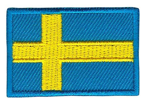Patch Schweden Flagge Klein Sweden Aufnäher Bügelbild Größe 4,5 x 3,0 cm