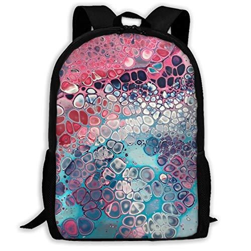 Moderno arte celular colorido mochila de viaje portátil Bookbag capacidad ligera papelería bolso bolso para niñas niños escuela mujeres hombres oficina