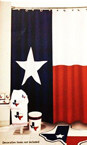 Crystal Emotion Decration colletion Decor,Texas Flag Lone Star Fabric Shower Curtain