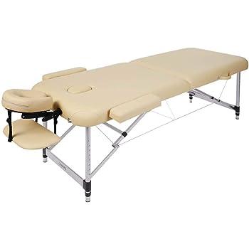 Naipo Lettino da Massaggio Deluxe Professionale Portatile a 2 Sezioni con Piedini in Alluminio per Terapia Reiki Healing Tattoo Massaggio Thai Svedese,213*90cm 11.6 KG (Capacità di Carico 270KG)