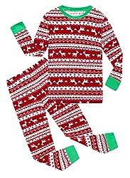 bcc7623e9d Family Feeling Christmas Bear Little Boys Girls Child Pajamas Sets 100%  Cotton Toddler PJS