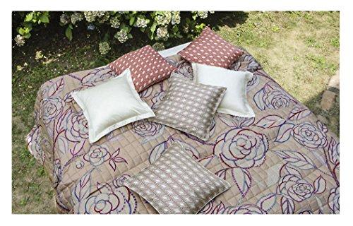 Zucchi Einrichtungsfoulards Tagesdecke Bettüberwurf »Camelia« der Marke geblümte Optik in Puder Rose Göße V1: 270 x 270 cm in 100% Baumwolle