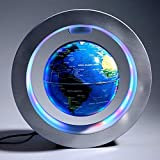 """Magnetic Floating Map Globe with Round Socket, 4"""" Rotating Planet Earth Globe Ball"""