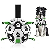 Durable & Soft: Complying with the exact same safety standard as children's toys, the dog ball is made of premium PU that is the matiral of standard soccer ball so that it can be kicked and bounces as well. The dog football is durable yet soft on dog...