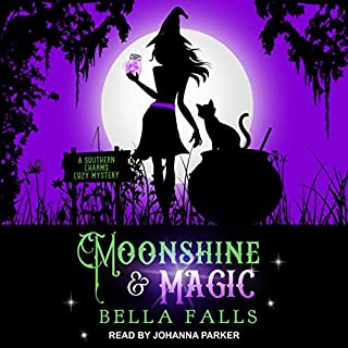 Moonshine & Magic     Southern Charms Cozy Mystery Series, Book 1              By:                                                                                                                                 Bella Falls                               Narrated by:                                                                                                                                 Johanna Parker                      Length: 7 hrs and 58 mins     4 ratings     Overall 4.3