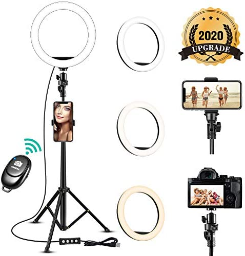 8 Ring Light with Stand and Phone Holder TODI Dimmable Selfie Ring Light with Tripod Stand 51 product image