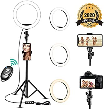Todi 8'' Selfie Ring Light with Adjustable Tripod Stand