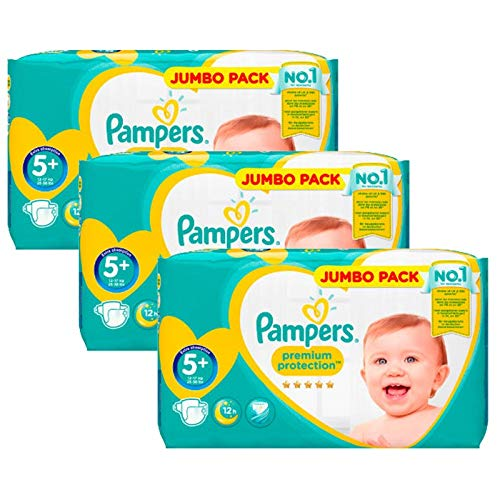 Couches Pampers - Taille 5+ new baby premium protection - 140 couches bébé