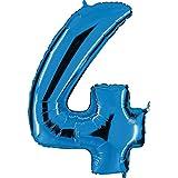 Grabo 004B-P Número 4 Superloon Paquete individual, Longitud-40 pulgadas, Color Azul, Talla Única