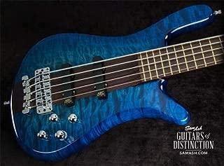 Warwick Custom Shop Streamer Stage I 5-String Bass Guitar Bleached Blueburst (SN:16245317)