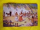 Antigua Postal - Old Postcard : Zambra Gitana. Diseño M.Bertuchi