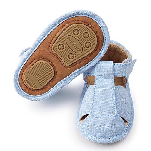 Logobeing Bebe Recien Nacido Verano Sandalias Zapato Casual Zapatos Sneaker Antideslizante Suela Suave (Edad: 9~12 Meses, Azul)