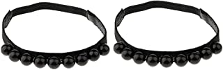 Baoblaze 1 Pair Leather Shoe Straps Band For Holding Loose High Heeled Shoes, Elastic, with Pearls