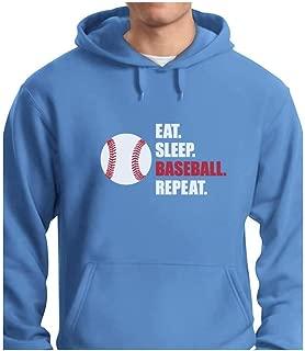 TeeStars - Eat Sleep Baseball Repeat Best Gift for Baseball Fans Hoodie