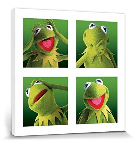 1art1 Muppets - Kermit Galerie Bilder Leinwand-Bild Auf Keilrahmen   XXL-Wandbild Poster Kunstdruck Als Leinwandbild 40 x 40 cm