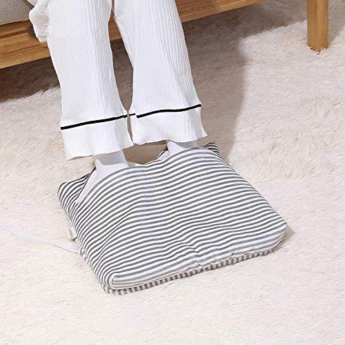 SMLZV Heated Elettrico Scaldapiedi, Con Fast Riscaldamento Pantofole, Facile E Comodo Da Usare For La Pulizia Del Rilievo Di Riscaldamento (Color : Gray)