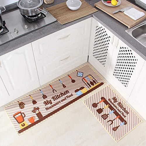 HLXX Alfombrilla de Cocina Alfombrilla Antideslizante para Suelo de Cocina Alfombrilla Absorbente para Puerta de baño Alfombra antiincrustante Absorbente de Aceite A3 50x80cm