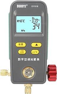 Romacci Medidor digital de manifold Vácuo, pressão, temperatura, vazamento, testador, medidor, flúor, medidor, sistema, HV...