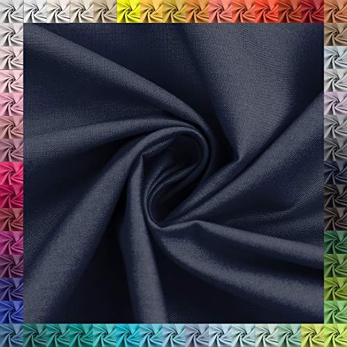 Bomullstyg uni 100 % bomull Oeko-Tex metervara över 50 färger att välja mellan (14 marinblå, 100 x 148 cm)