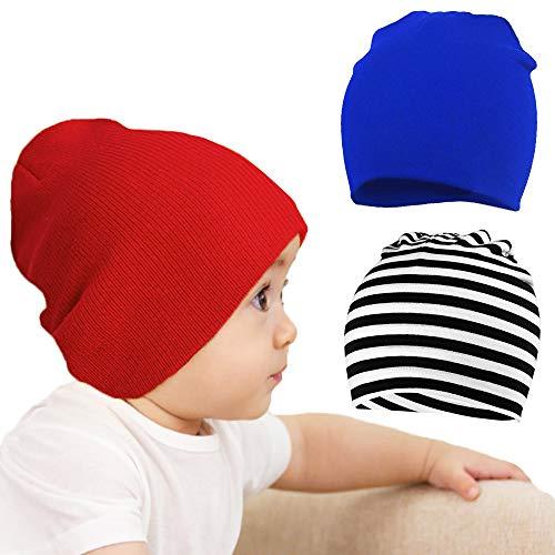Beanie Hats Gorro para Recién Nacido, Suave y Cálido Gorro de Punto para Bebé Sombreros para Recién Nacidos de Algodón Unisex, Iindo Gorro para Bebé Sombreros para Bebés para Niñas/Niños de 1 a 3
